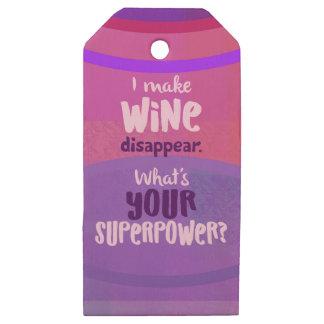 Etiquetas De Madera Para Regalos ¿Hago que el vino desaparece - cuál es su