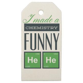 Etiquetas De Madera Para Regalos Hice una química divertida aquí