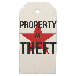 Etiquetas De Madera Para Regalos La propiedad es hurto - comunista socialista del