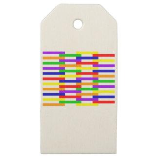 Etiquetas De Madera Para Regalos Línea multicolora diseño