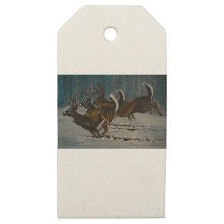 Etiquetas De Madera Para Regalos Los 3 ciervos