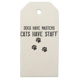 Etiquetas De Madera Para Regalos Los perros tienen gatos de los amos tener el