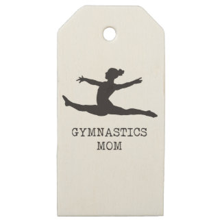 Etiquetas De Madera Para Regalos Mamá de la gimnasia