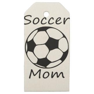 Etiquetas De Madera Para Regalos mamá del fútbol