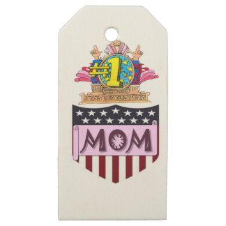 Etiquetas De Madera Para Regalos Mamá del número uno