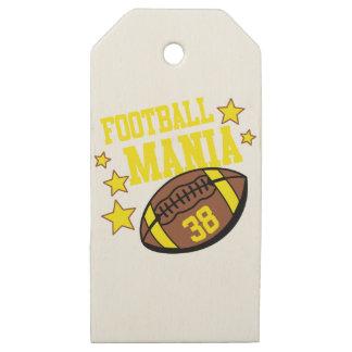 Etiquetas De Madera Para Regalos manía del fútbol