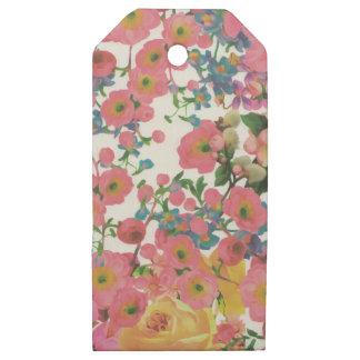 Etiquetas De Madera Para Regalos modelo floral del tema de las flores elegantes del