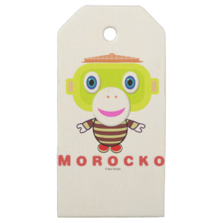 Etiquetas De Madera Para Regalos Mono Morocko-Lindo