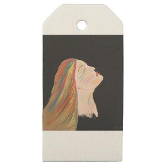 Etiquetas De Madera Para Regalos Mujer multicolora