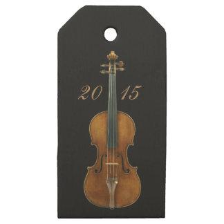 Etiquetas De Madera Para Regalos Multiusos versátil de Stradivarius del violín de