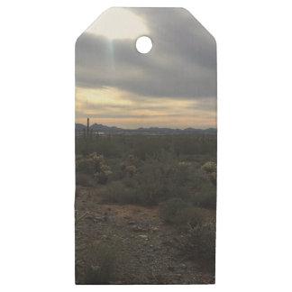 Etiquetas De Madera Para Regalos Paisaje de Arizona