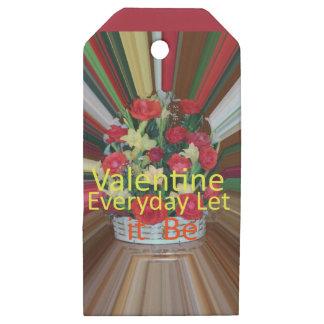 Etiquetas De Madera Para Regalos Parte diaria de la tarjeta del día de San Valentín