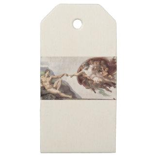 Etiquetas De Madera Para Regalos Pintura original de Miguel Ángel en la capilla