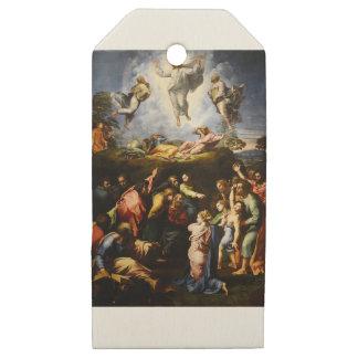 """Etiquetas De Madera Para Regalos Pintura original """"la transfiguración"""" Raffaello"""