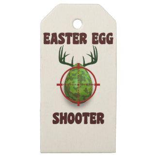 Etiquetas De Madera Para Regalos pistola del huevo de Pascua, desgin divertido del