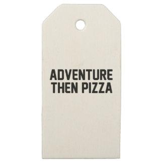 Etiquetas De Madera Para Regalos Pizza de la aventura entonces