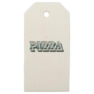 Etiquetas De Madera Para Regalos Pizza del vintage para los inconformistas y los