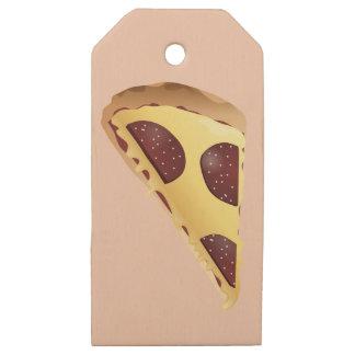 Etiquetas De Madera Para Regalos Pizza para la gente