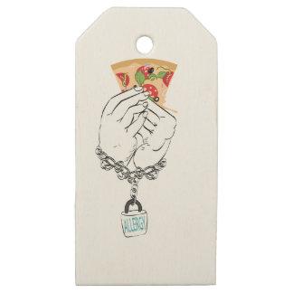 Etiquetas De Madera Para Regalos Pizza sabrosa del dibujo animado y Hands2