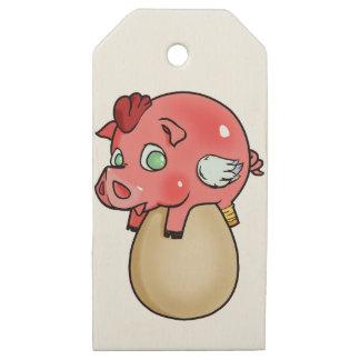 Etiquetas De Madera Para Regalos ¡Pollo, cerdo, Cheeken-Peeg!