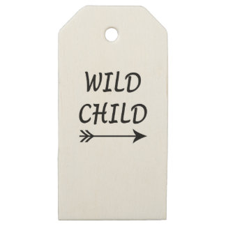 Etiquetas De Madera Para Regalos Presente salvaje del niño