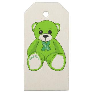Etiquetas De Madera Para Regalos Productos del oso de peluche de la conciencia de