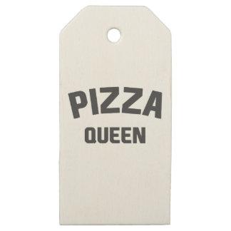 Etiquetas De Madera Para Regalos Reina de la pizza