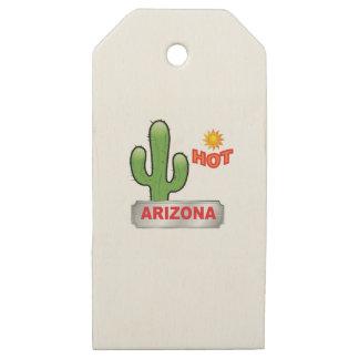 Etiquetas De Madera Para Regalos Rojo caliente de Arizona