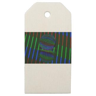 Etiquetas De Madera Para Regalos Rojo, verde, azul en la bola de cristal