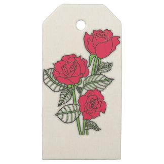 Etiquetas De Madera Para Regalos Rosas