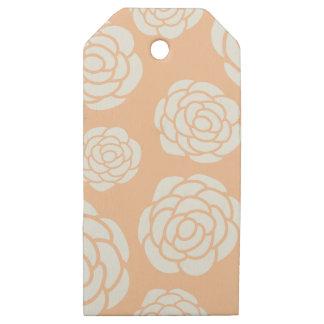 Etiquetas De Madera Para Regalos Rosas blancos