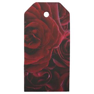 Etiquetas De Madera Para Regalos Rosas rojos