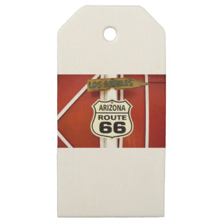 Etiquetas De Madera Para Regalos Ruta 66 Seligman Arizona los E.E.U.U.