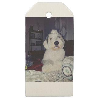 Etiquetas De Madera Para Regalos Sam el perro pastor