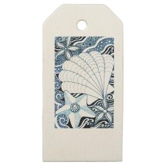 Etiquetas De Madera Para Regalos Seashells