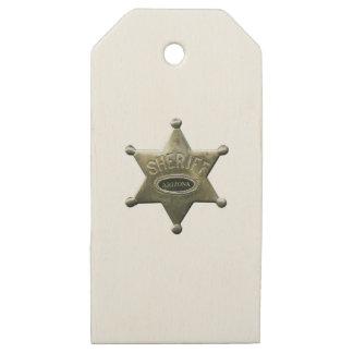 Etiquetas De Madera Para Regalos Sheriff Arizona