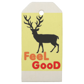 Etiquetas De Madera Para Regalos Sombra de los ciervos del sentir bien