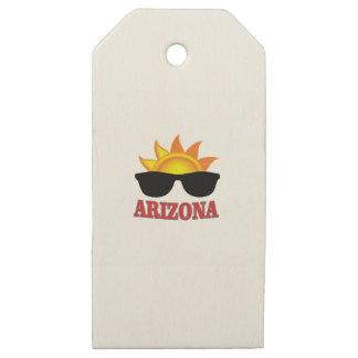 Etiquetas De Madera Para Regalos sombras de Arizona sí