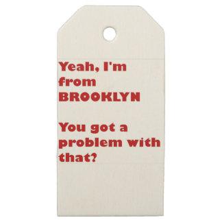 Etiquetas De Madera Para Regalos Soy de Brooklyn
