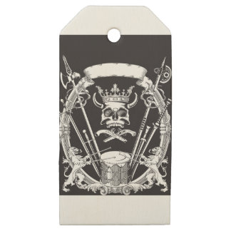 Etiquetas De Madera Para Regalos Sr. Skull