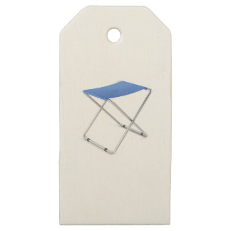 Etiquetas De Madera Para Regalos Taburete plegable azul