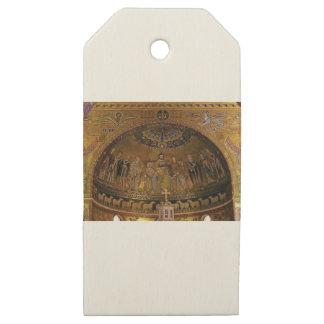 Etiquetas De Madera Para Regalos Templo del arco de la bóveda de la iglesia