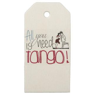 Etiquetas De Madera Para Regalos Toda lo que usted necesita es cita del tango
