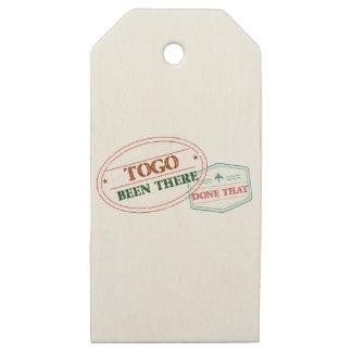Etiquetas De Madera Para Regalos Togo allí hecho eso
