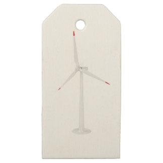 Etiquetas De Madera Para Regalos Turbina de viento moderna