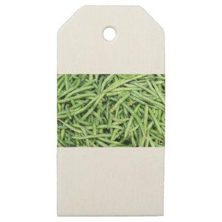 Etiquetas De Madera Para Regalos Veggie verde orgánico Vegitarian de las habas