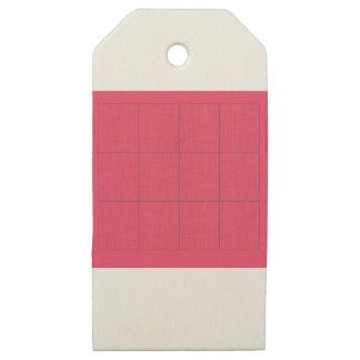 Etiquetas De Madera Para Regalos Zigzag rosado de los elementos del diseño