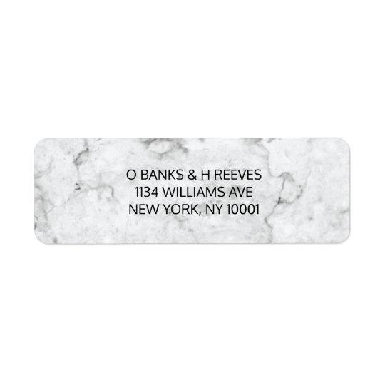 Etiquetas de mármol modernas del remite