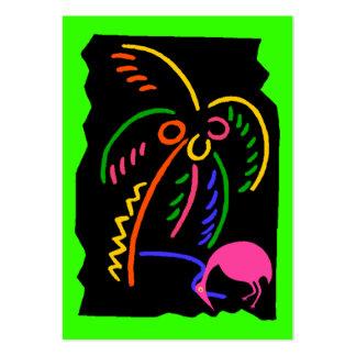 Etiquetas de neón retras del regalo del recuerdo d tarjetas de negocios