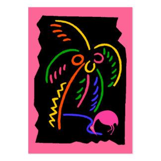 Etiquetas de neón retras del regalo del recuerdo tarjetas de visita grandes